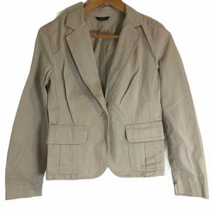 J. Crew Tan Khaki Chino One Button Blazer Medium
